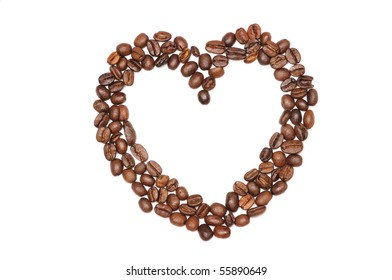 isolated image of empty heart of coffee
