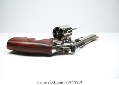 Isolated image of a handgun white and gray background