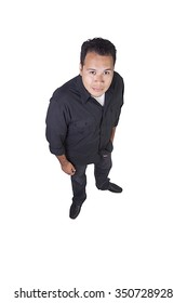 Isolated Image of a Handsome Hispanic Man - White Background