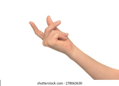 Isolated image with human hand shows gestures