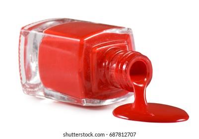 Isolated image of  nail polish on a white background