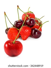 Isolated image of ripe berries closeup