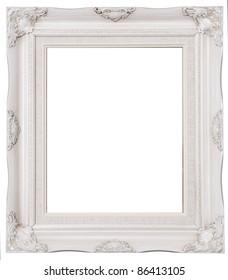 Isolated image of white photo frame