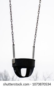 Isolated Kids Chain Swing