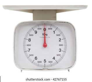 isolated kitchen scale with clipping path