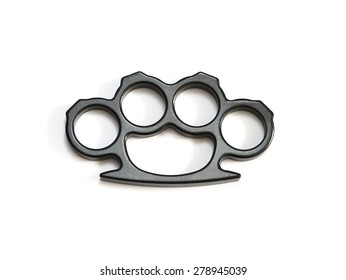isolated knuckle-duster white background