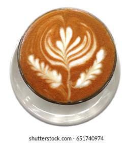 Isolated Latte Art - Hot Latte