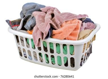isolated laundry basket