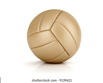 isolated leather volley ball