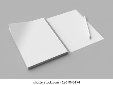 Isolated Letterheads, Blank Template for Corporate Identity