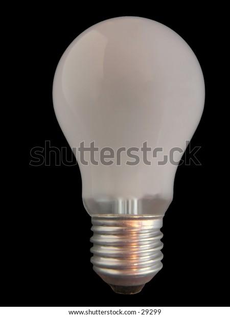Isolated lightbulb