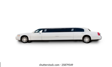 An isolated limousine on white *needs editing*
