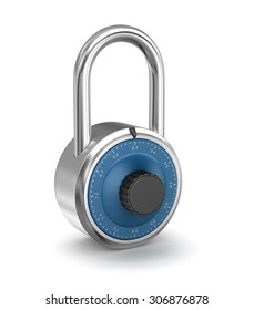 Isolated Lock , This is a computer generated and 3d rendered picture.