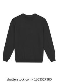 isolated long sleeve black sweatshirt