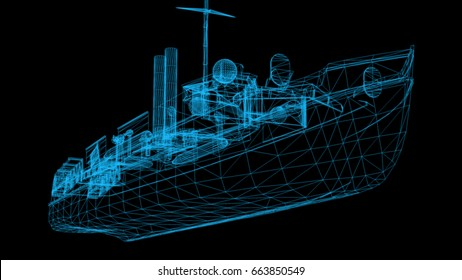 Isolated Low Poly graphic design of 