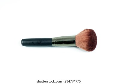 Isolated makeup brushed, perfect for adding in the edge of a page.