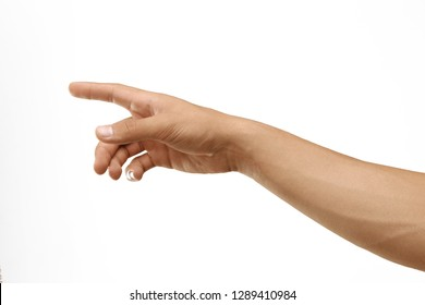 isolated man hand creation of adam