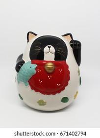 isolated maneki-neko (fat cat)