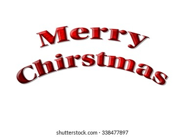 Isolated Merry christmas wording with Snowflake texture.