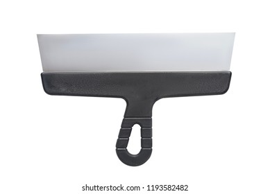 Isolated metal putty knife