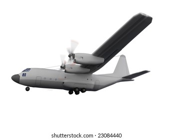 isolated military airplane over white background