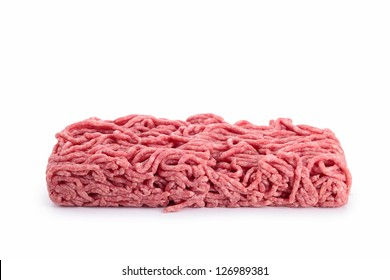 isolated minced beef