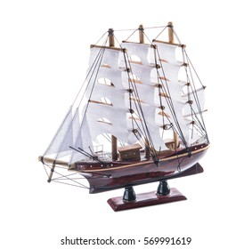 isolated model sailboat ship