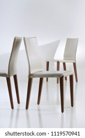 Isolated modern chair set