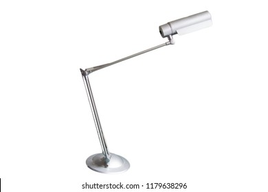 isolated modern grey desk lamp on white background