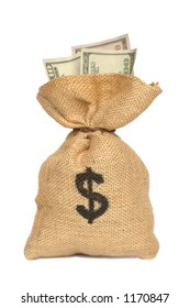 Isolated money bag