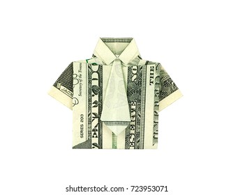 Money Origami Tutorial: Euro Shirt with Tie (Stefan Delecat) - YouTube | 280x334