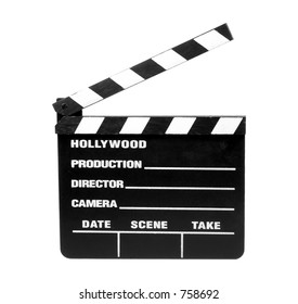 Isolated Movie Slate - Clipping Path