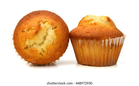 Isolated muffin on white background