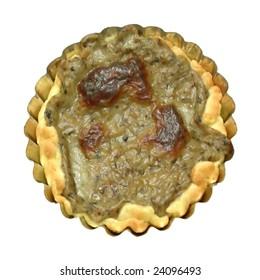 Isolated mushrooms pie