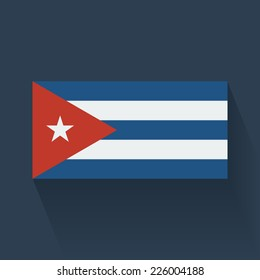 Isolated national flag of Cuba. Flat design.
