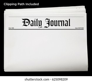 An isolated newspaper showing 'Daily Journal' as headline.
