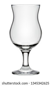 Isolated objects: single empty beer glass, on white background