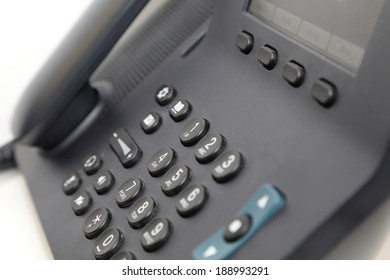 isolated office phone in white background