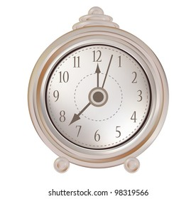 Isolated old clock