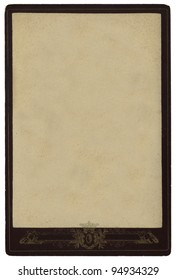 The Isolated Old pasteboard card with frame and decoration
