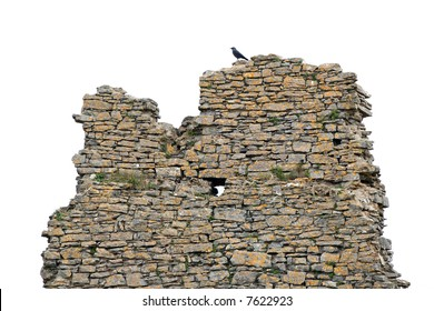 isolated old wall