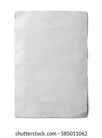 isolated old white paper with clipping path