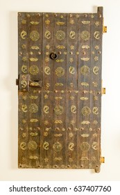 Isolated old wodden door from india