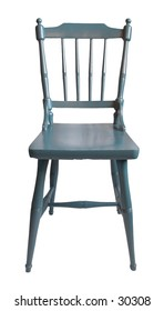 Isolated old, wooden chair