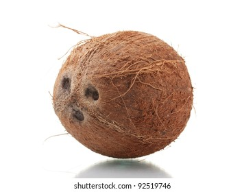 ?oconut isolated on white