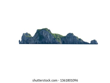 Natural island isolated on white background of file with Clipping Path .