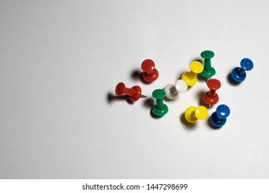 isolated on white, push pins