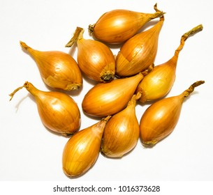 Isolated onions on a white background