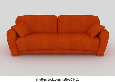 isolated orange sofa colors objects