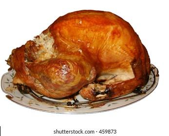 isolated oven roasted turkey